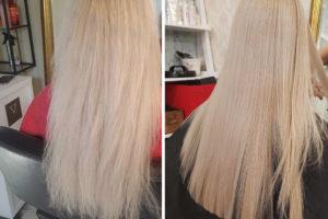 Tratament Keratina pentru parul blond